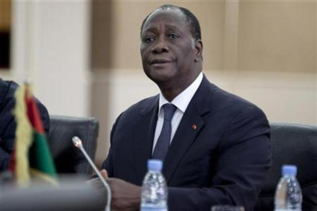 Ivory Coast's President Ouattara attends an extraordinary meeting of the Economic Community of West African States in Senegal's capital Dakar