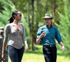 Criminal Paul Kagame and Ange Kagame contemplating on how to oppressed Rwandans