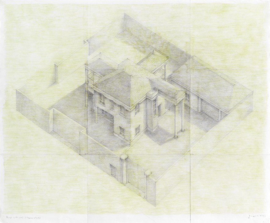 House with walls (tuscan style), 2006