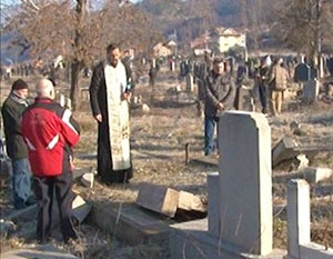 Blessing graves in Serbia