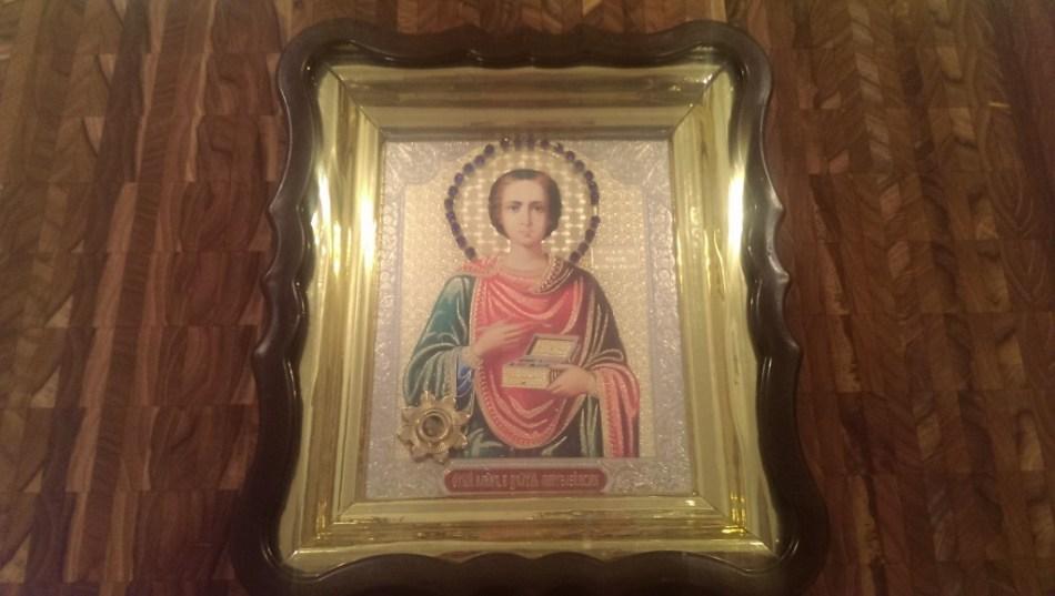St Panteleimon with relic
