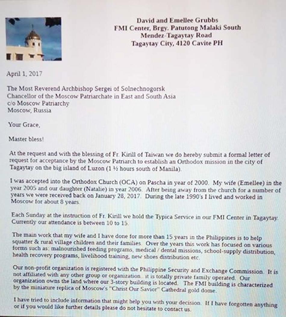 Saint Sergius letter