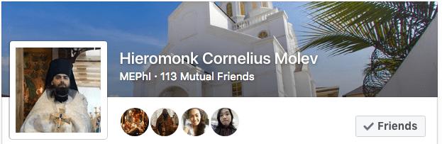 Father Cornily on Facebook