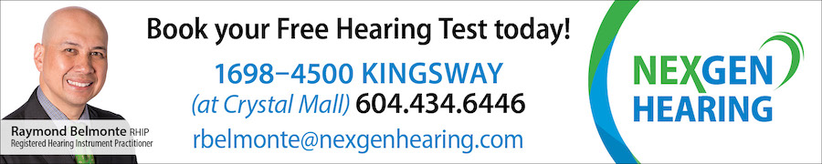 Book your free hearing test today at NexGen Hearing. Call 604-434-6446