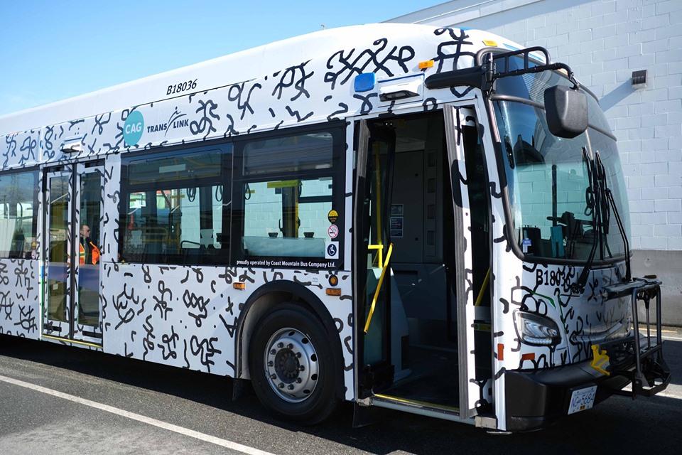 Art on a bus: Filipino-Canadian artist Patrick Cruz's work