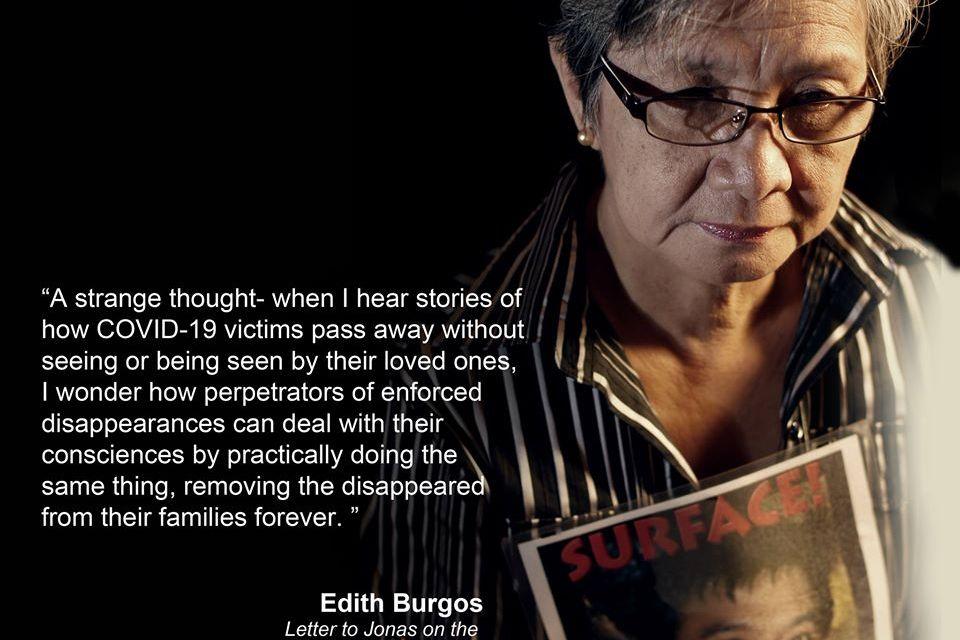 13th Anniversary of Jonas Burgos' Abduction statement