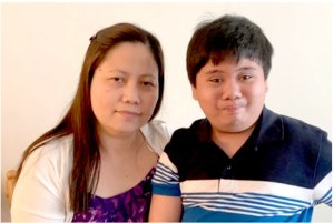 Berly Mabalot with son Rupert