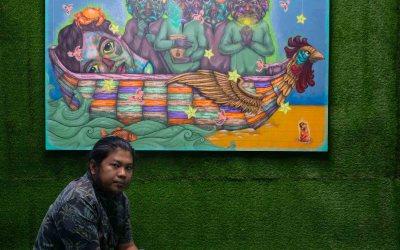 Filipino artist in  Art Fair in Regina, Saskatchewan