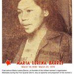 Martial law martyrs: Maria Lorena Barros (a.k.a Kumander Mila)