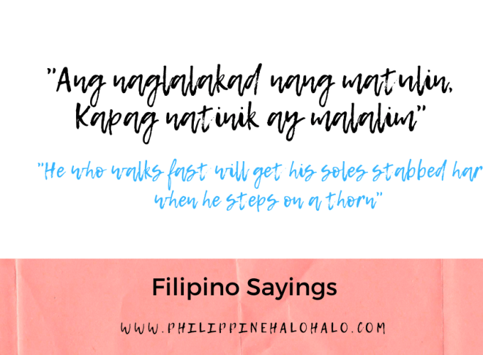 Philippine Halo-halo Tagalog Lessons Filipino Sayings