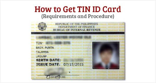 How to Get TIN ID Card - Philippine IDs