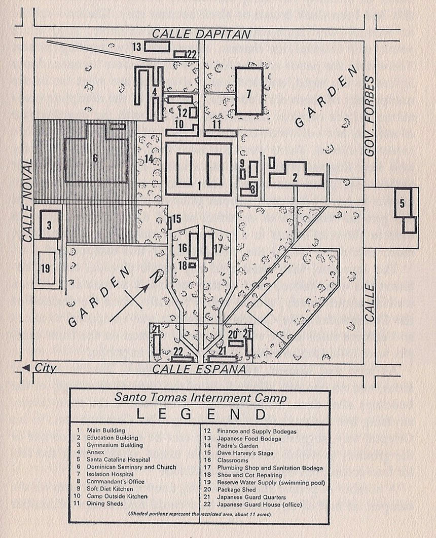 Santo Tomás Internment Camp Luzon Philippine Internment - Map of japanese internment camps in us