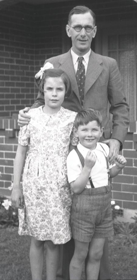George Horridge, reunited with his children in Sydney, Australia