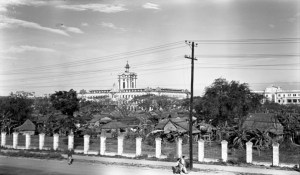 Santo Tomás Internment Camp (STIC) shown from street,1945
