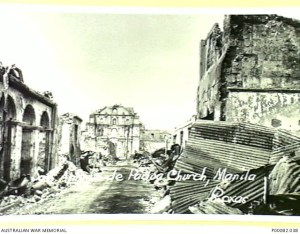 MANILA, THE PHILIPPINES, 1945. SAN ANTONIO DE PADUA CHURCH, RUINED BY BOMBING AND SHELLFIRE. (DONOR: B. COOPER; PHOTOGRAPHER: ROXAS).