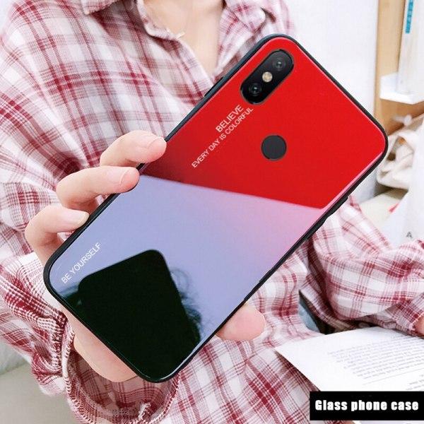 Capa Dura Emborrachada Vidro Temperado Gradiente Essager Be Yourself Xiaomi Mi 8 Lite Img 02