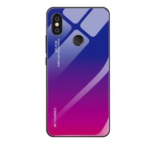 Capa Dura Emborrachada Vidro Temperado Gradiente Rosa Escuro Azul Escuro Essager Be Yourself Xiaomi Mi 8 Lite Img 01