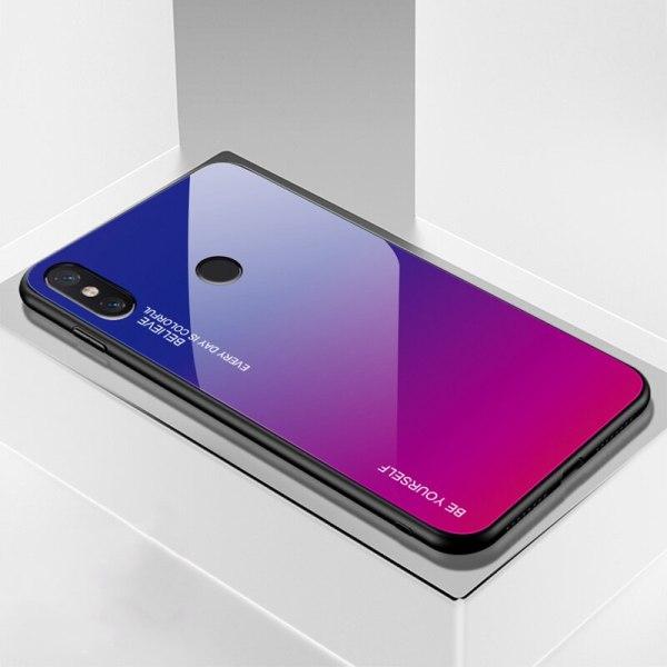Capa Dura Emborrachada Vidro Temperado Gradiente Rosa Escuro Azul Escuro Essager Be Yourself Xiaomi Mi 8 Lite Img 07