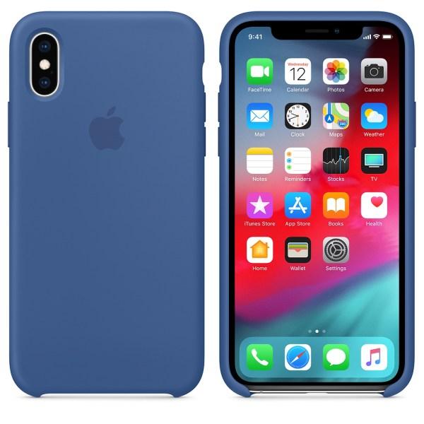 Capade Silicone Para Iphone Xs Azul‑holandês Img 03