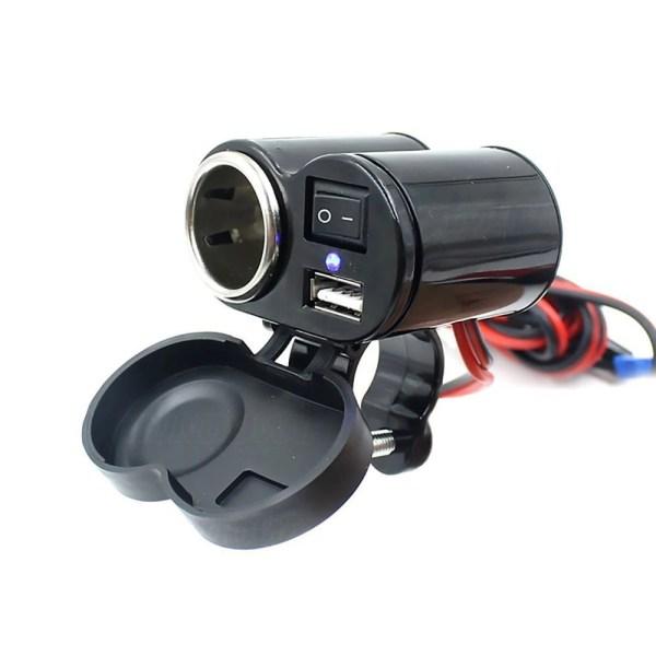 Isqueiro 12V com USB para Moto IMG 02