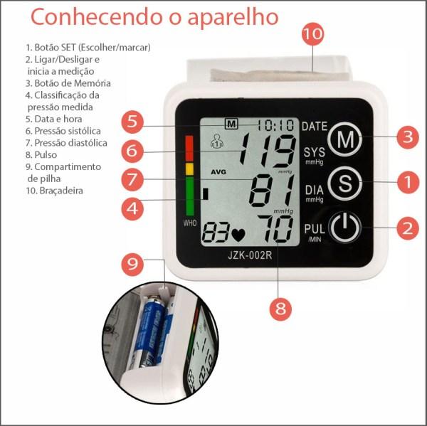 Monitor De Pressao Arterial Digital Automatico De Pulso Techline Img 05