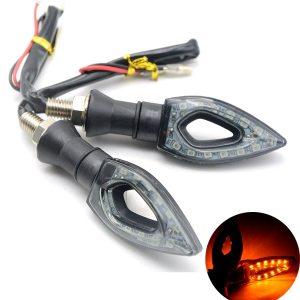 Pisca Seta LED Esportiva Triangular Universal 12V 12 LEDS Moto IMG 01