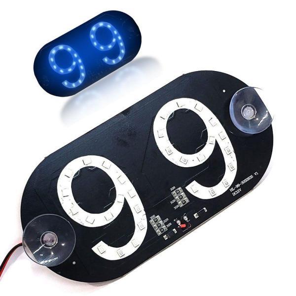 Placa de LED Luminosa 99 Azul com Conexao Isqueiro Veicular IMG 02