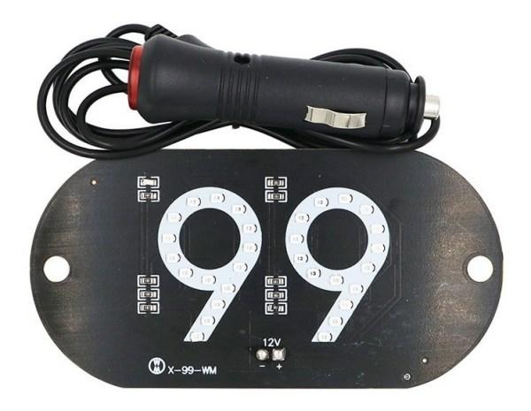 Placa de LED Luminosa 99 com Conexao Isqueiro Veicular IMG 05