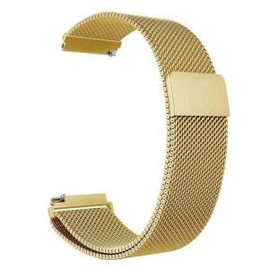 Pulseira Milanese Metal Inoxidavel Dourada Xiaomi Amazfit Bip Img 01