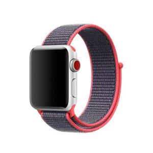 Pulseira Nylon Rosa Preto Apple Watch Img 01