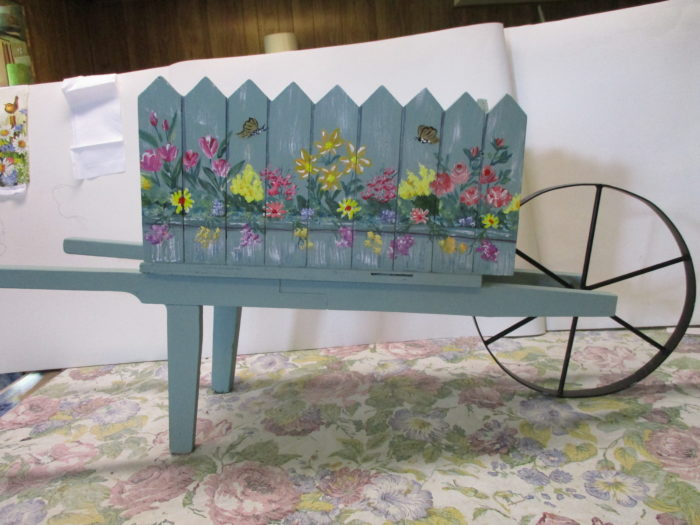 mini wheelbarrow planter