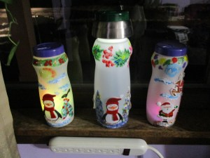 creamer container Christmas decorations