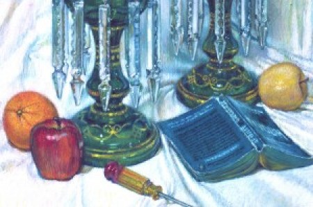 Still Life Amid Czechoslovakian Crystal (detail)