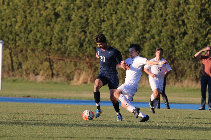 Boys Soccer Co-Captain Bakken '16 Nets Two Goals  In Five Minutes to Cap an Andover Comeback