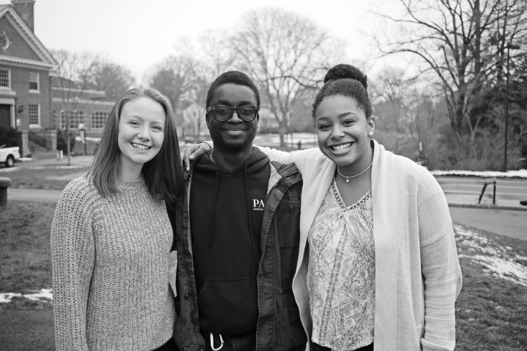 Word, which was founded in 2014 by Dakoury Godo-Solo '17, is currently co-headed by Chaya Holch '17, left, Godo-Solo, and Rosie Poku '17. The club strives to provide a space in which students can share and express their love for spoken word poetry.