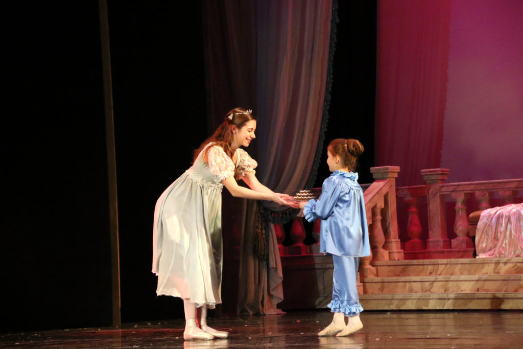 """Hannah Beaudoin '17, above, and Lydia Paris '17 will share the role of Clara for this year's production of """"The Nutcracker."""""""
