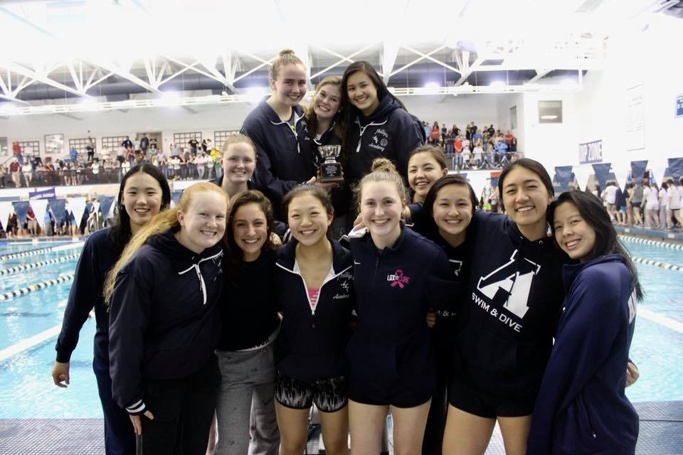 Girls Swimming Ranks Fourth at Easterns