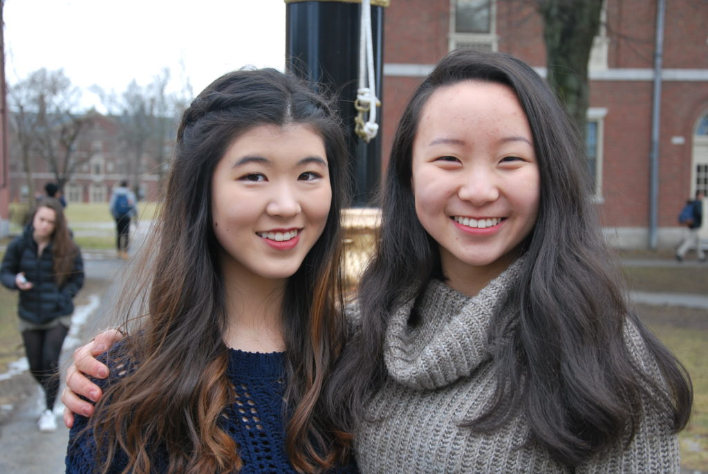 Hazel Koh '21, pictured left, and Katherine Wang '21, pictured right, are the co-heads of AWE.