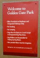 Welcome to the Golden Gate Park