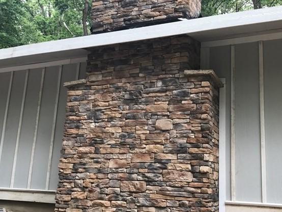 Childers exterior stone