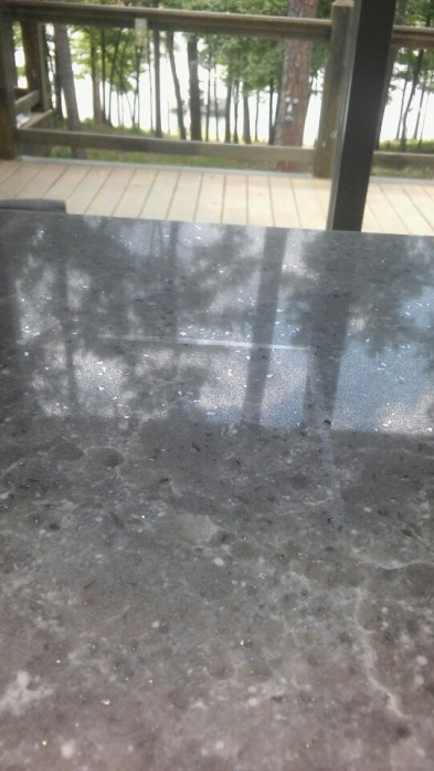 Beautiful grey granite countertop.