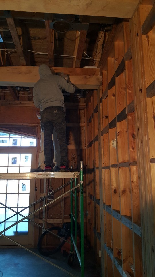 4-staining the beams