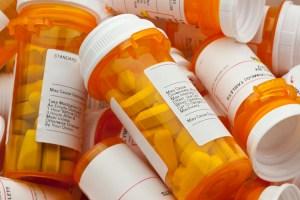 Bottles of pharmaceautical drugs