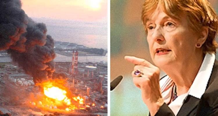 Dr. Helena speaking and Fukushima explosion