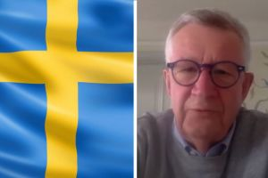 Swedish flag and doctor