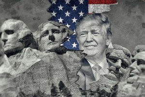 Donald Trump and Mount Rushmore