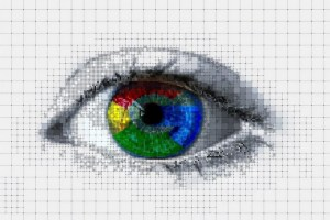 Eye with Google logo