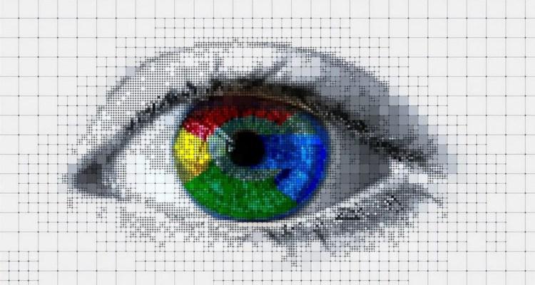 Eye with Google logo