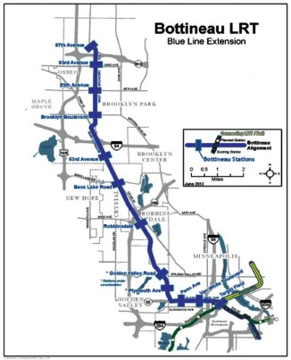 Blue line extenstion map pic