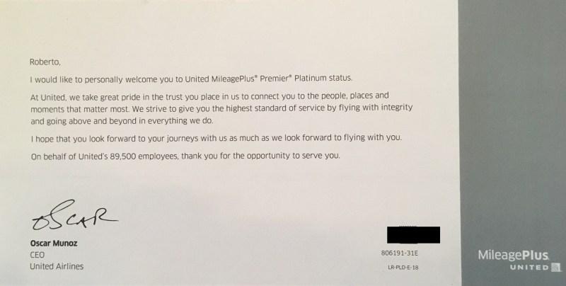 United Premier Platinum Welcome Kit